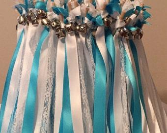 100 Wedding Wands/Wedding Ribbon Wands/Wedding Wand/Wedding Streamers Turquoise