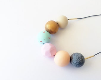 Handmade Polymer Clay Beads Necklace- Pippa