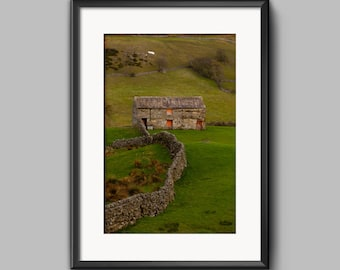 Red Barn Door, Swaledale, Yorkshire, fine art landscape photo