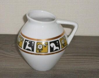 Vintage Porcelain Creamer LFZ Russia Art Deco Dinnerware @99