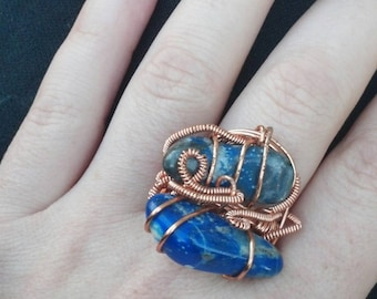Wire wrapped ring - SALE