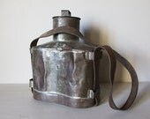 French Antique Metal Milk Carrier From 1889 Loft Decor Steampunk