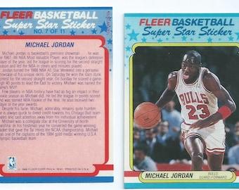 1987-1988 Fleer Micheal Jordan Sticker Replica (not a Sticker) 2nd Fleer Edition