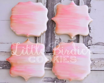 Watercolor Hand Painted Sugar Cookies