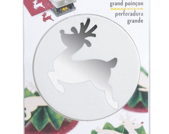EK Success Large Punch - Leaping Reindeer - CLOSEOUT SALE