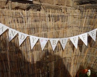 Wedding banner. Wedding bunting. Candy buffet bunting