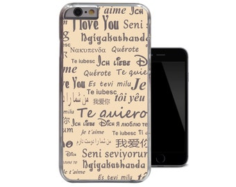 I Love You Different languages French English German iPhone 6 Case iPhone 5c case iPhone 5 5s case iPhone 4 4s case (A195)