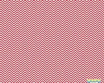 Brick red  and white mini chevron craft  vinyl sheet - HTV or Adhesive Vinyl -  zig zag pattern HTV1537