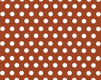 Brown with white polka dot pattern craft  vinyl sheet - HTV or Adhesive Vinyl -  medium polka dots HTV1628