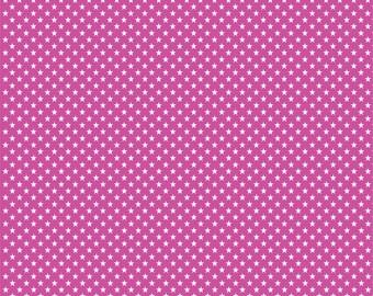 Fuchsia with white mini stars craft  vinyl sheet - HTV or Adhesive Vinyl -  star pattern HTV2410