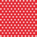 Red with white polka dot pattern heat transfer or adhesive  vinyl sheet medium polka dots HTV1616