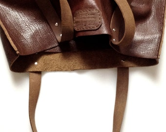 Cognac tote bag / Everyday bag