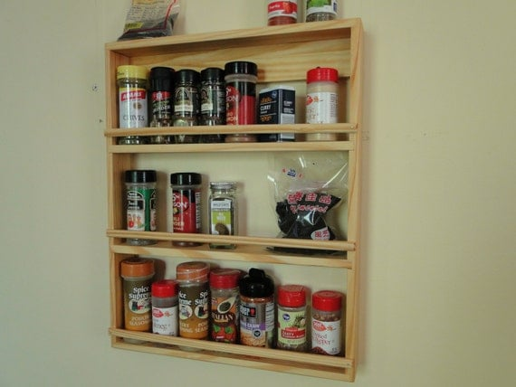 items similar to wooden spice rack nail polish display. Black Bedroom Furniture Sets. Home Design Ideas