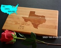 Texas Cutting Board, Handcrafted in Texas, Custom Cutting Board, State Map, for a Proud Texan, Texan wanna-be, or that homesick Ex Texan