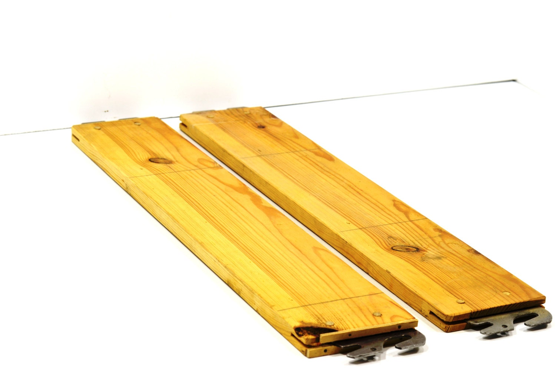 Vintage headboard footboard hook rails display bed