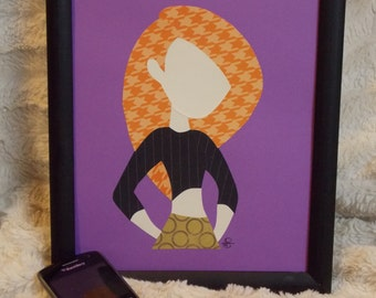 Paper Art - KIM POSSIBLE - Kim Possible - Handmade - Silhouette Style - Ready to Ship