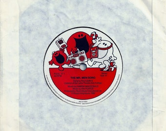The Mr Men Song - 7 inch Vinyl Record  -  Sung By Roy Castle - French Pressing 1982 - # redruthcollectables