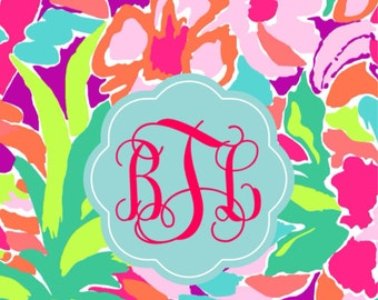 Lilly inspired monogram cell phone case