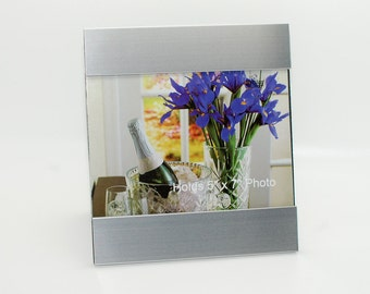 Personalized 5x7 photo frame with quote - Custom engraving Picture frame with engraved quote or message for wedding, graduation any event