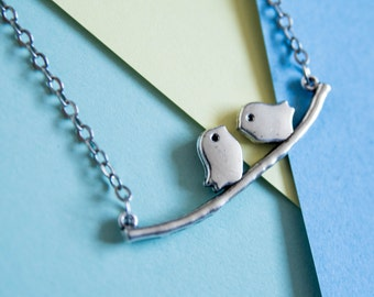 Bird necklace with message card - friendship gifts - daughter gifts - lovely heartfelt message