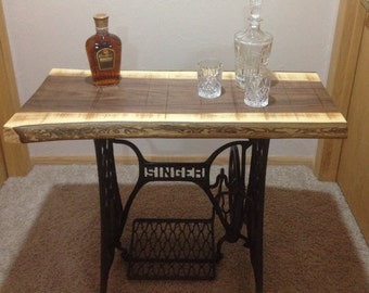 Black Walnut Singer sewing machine table