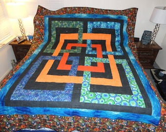 handmade quilt approx 111x88 in. Josephine's Knot