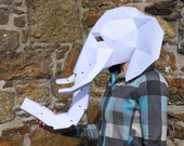 Elephant Mask - make your own 3D Low-Poly Mask with PDF download
