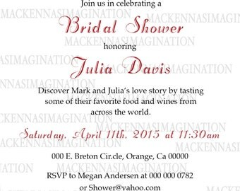 Vintage Travel Bridal Shower Invitation-DIGITAL