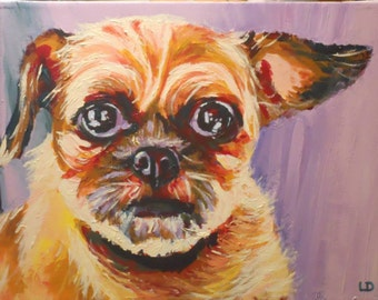 Custom pet portrait (12x16) from your photo - SAMPLE
