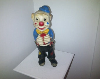 Vintage Stern Squeak Toy Hobo Clown