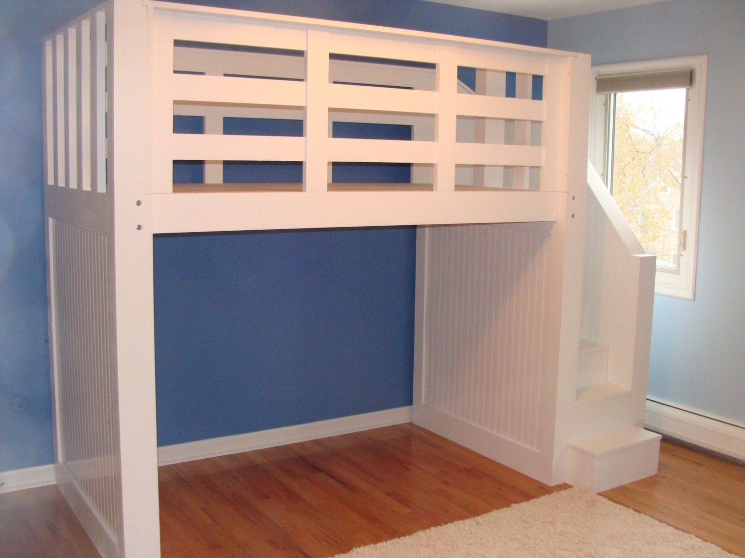 Loft bed with stairs for Bunk beds with stairs uk
