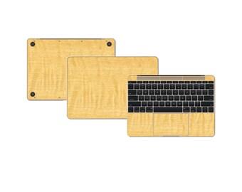 """Macbook 12"""" DECAL Sticker Skin Kit 3M Wood series by Stickerboy-Set 1"""