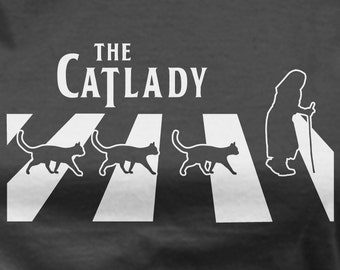 Cat Lady tshirt cat shirts funny parody tshirts hipster shirt