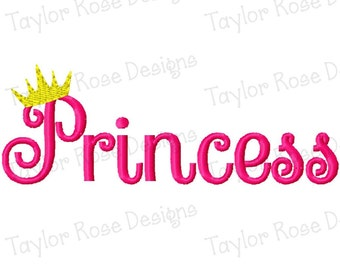 Princess Crown Machine Embroidery Design 4x4 5x5 6x6 7x7 INSTANT DOWNLOAD