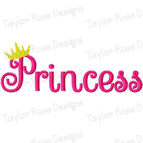 Princess Crown Machine Embroidery Design 4x4 5x5 6x6 7x7 Instant