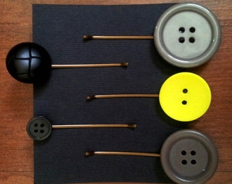 Upcycled Button Bobby Pins
