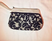 Gift for Her Made to Order: Lace Overlay Wet/Dry Bag