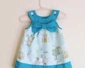 Baby Girl Easter Dress, Girl's Easter Dress, 100% Cotton Bunny Dress, Sophia Gracie Couture, Newborn to 5-6 years