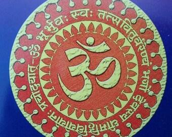 Om Magnet, Universe Magnet, Gayantri Mantra Magnet