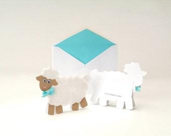 Fuzzy Lamb Card