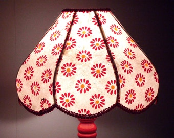 "Lamp bedside Bohemian style ""Marguerita"" paper Nepal flowers patterns"