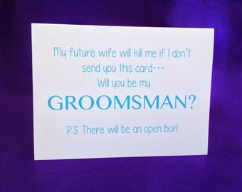 Funny Will You Be My Groomsman Card