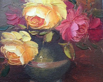 Rose Floral Oil Painting