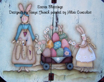 Easter Blessings - Painted by Milvi Consolatti, Painting With Friends E Pattern