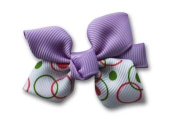 Lilac Hair clips for girls, purple  flower, hair bow,  Lavender kids hair clip, baby girl hair clip