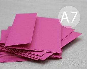 "A7 5x7 Dark Pink Envelopes (set of 25) - Magenta Envelopes - Wedding Envelopes - Hot Pink Envelopes - Fuschia - (true size 5 1/4"" x 7 1/4"")"
