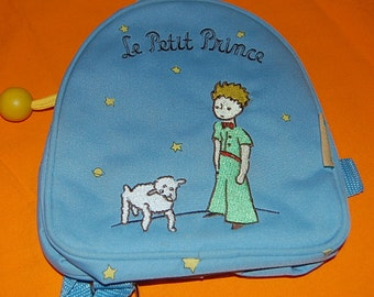 The Little Prince Miniature Backpack with Inside Zipper -Embroidered