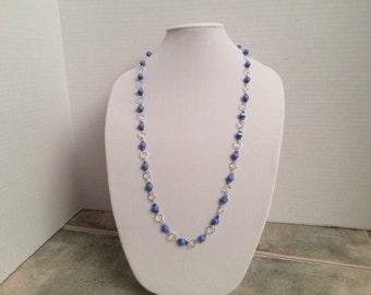 Light Blue Endless Chain Necklace