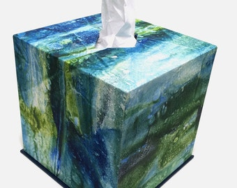 Tissue Box for packaging in cube shape