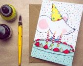 Happy Birthday … Rosie & Radish 'Scribbles' Greeting Card